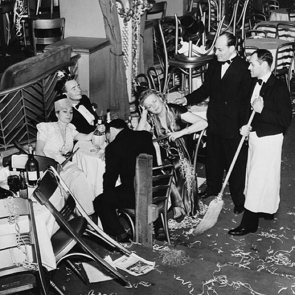 #TGIF. The Diamond Horseshoe staff after a New Year's Eve party, 1940, courtesy of @GettyImages. Go inside the ni... http://t.co/pzw36chMxa