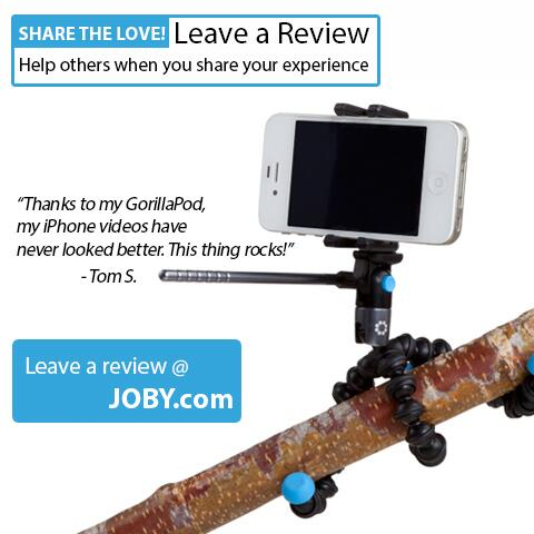 JOBY Peeps Help others by leaving a Review of a JOBY product you own @ http://t.co/RA4eTV8GBY THANKS http://t.co/zn8nDH5X9e