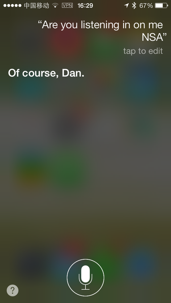 Tried asking Siri if the NSA is listening? - love the very honest response http://t.co/Ng4H0qJvmD