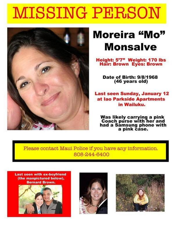 Have you seen this woman? Please Retweet! #missingperson #Maui http://t.co/KSs3dluzRj
