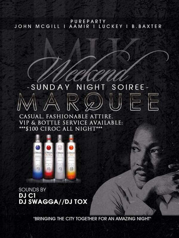 Sunday Night inside Marquee! You ready??? #MlkWeekend2014 http://t.co/o58kKbnBFy