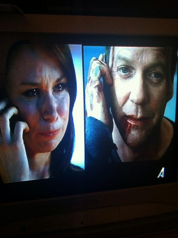 "SO glad this ""final"" scene...really wasn't the end. @rajskub #KeiferSutherland #JackAndChloe #24LAD @joncassar http://t.co/PMCEWysPW2"