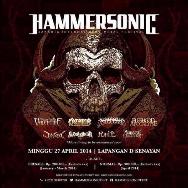 Big announcement! Hatebreed returns to #Indonesia this April! #HammerSonic2014 #Hatebreed2014 http://t.co/gFfBtD6dA9