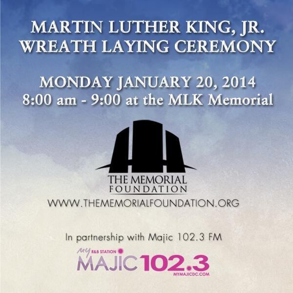 Looking for something to do on #MLKDay ? Join us for 1 hour on 1/20 at 8am at #MLKMemorial on National Mall. http://t.co/W226iNlKTB