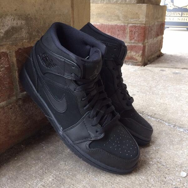 Air Jordan 1 Mid Black for $68 Available at Saint Alfred. Phone Orders + Shipping Available call 773-486-7159 http://t.co/okXwIEOmDq