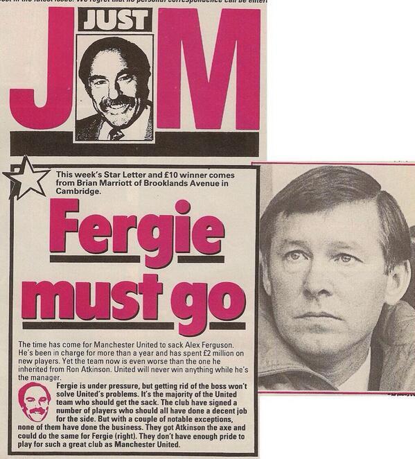 RT @MUFCSphera: Esto decían de Ferguson en sus comienzos. ¿Les parece familiar? http://t.co/giuQCqJ7vF