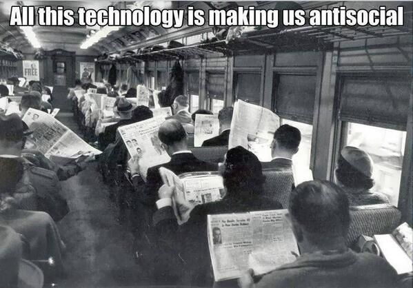 All this technology is making us antisocial http://t.co/H47C8PvZQo