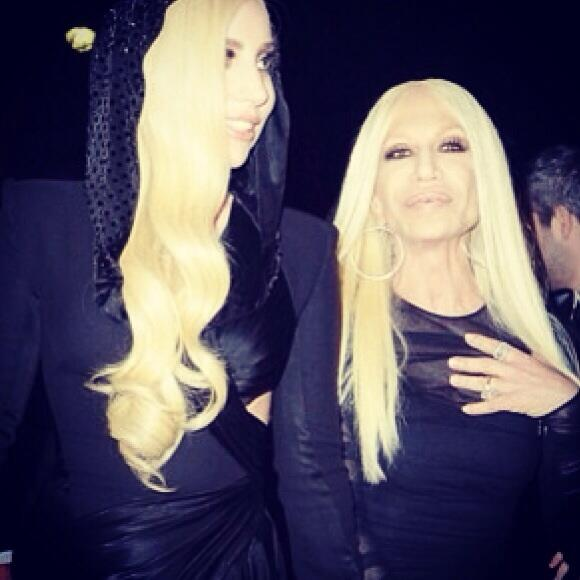 Soul sisters ladygaga and Donatella tonight in Paris. Gaga discusses their friendship in Feb @FashionCanada http://t.co/A0iSXSElpY