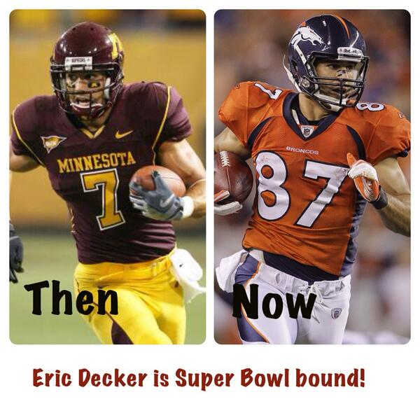 Congratulations to our guy @EricDecker87 who is headed to the Super Bowl! http://t.co/Y3XGgduuz9