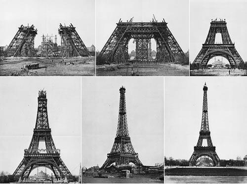 Building the Eiffel Tower - Paris, France http://t.co/5GLOOeloqH