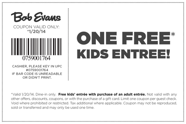 Celebrate the holiday tomorrow w/ #BobEvans! #KidsEatFree w/ the purchase of an adult entree. http://t.co/m8Xowy5slx http://t.co/HxYO5ln3LL