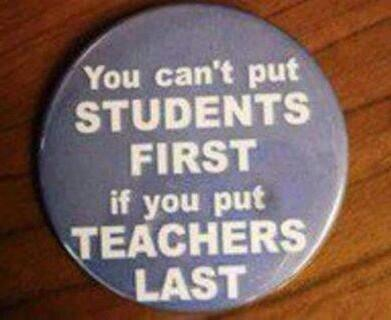 You can't put students first if you put teachers last. @rweingarten @AFTunion @NEAToday @NEANHNews @8027aftnh #1u http://t.co/YeDzmhlmdy