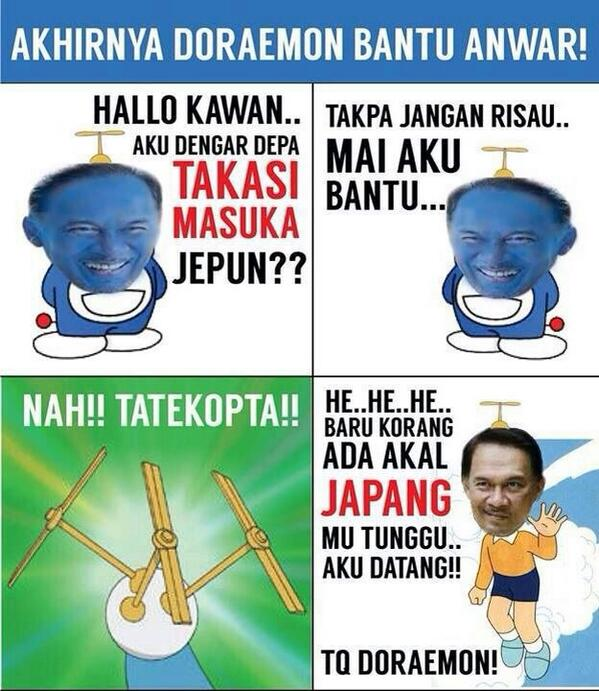 #Doraemon bantu Anuar masuk Jepun. #Doraemon100GEMPAK #siapapunyakerja nie? http://t.co/h1yanw5cLj