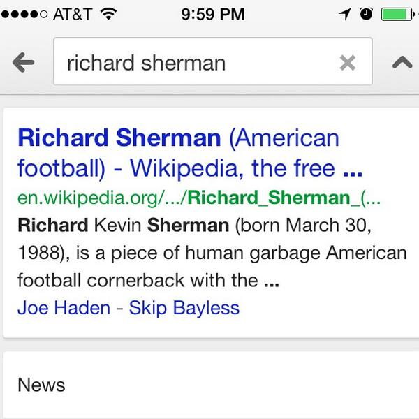 Revenge of nerds, cooler in movie RT @alyssabereznak: I just had to look up richard sherman and this is what i found http://t.co/sUNTPsmgVO