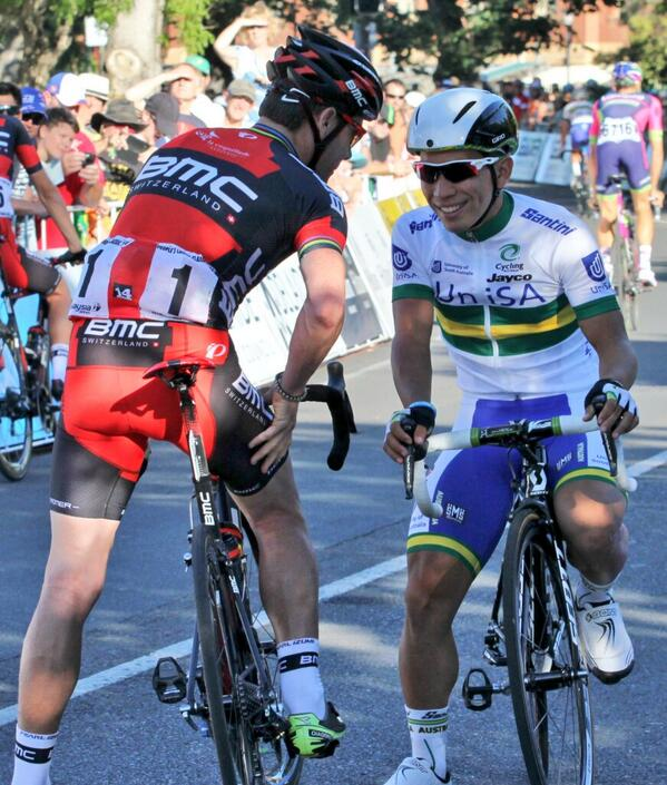 Kind of proud of that: RT @MTB_AntZ: ... some advice to @CalebEwan before the Peoples Choice Classic yesterday. #TDU http://t.co/APMEgfSnyx