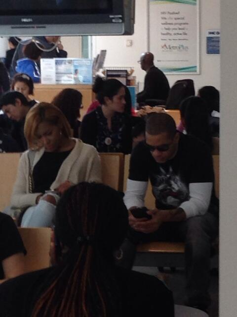 WAIT!!!!!!  RT @CocaineNoHoney: Peter Gunz and Amina ? Medicaid office ? LMFAO http://t.co/83VWIaJz1v""