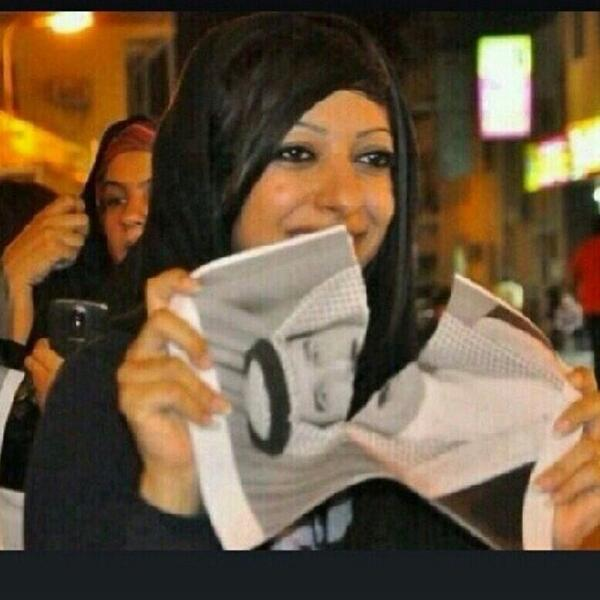#ZainabAlKhawaja sentenced to 4 months for tearing a poster with #HamadAlKhalifah photo. #FreeZainab #Bahrain http://t.co/6sW06RBPBX