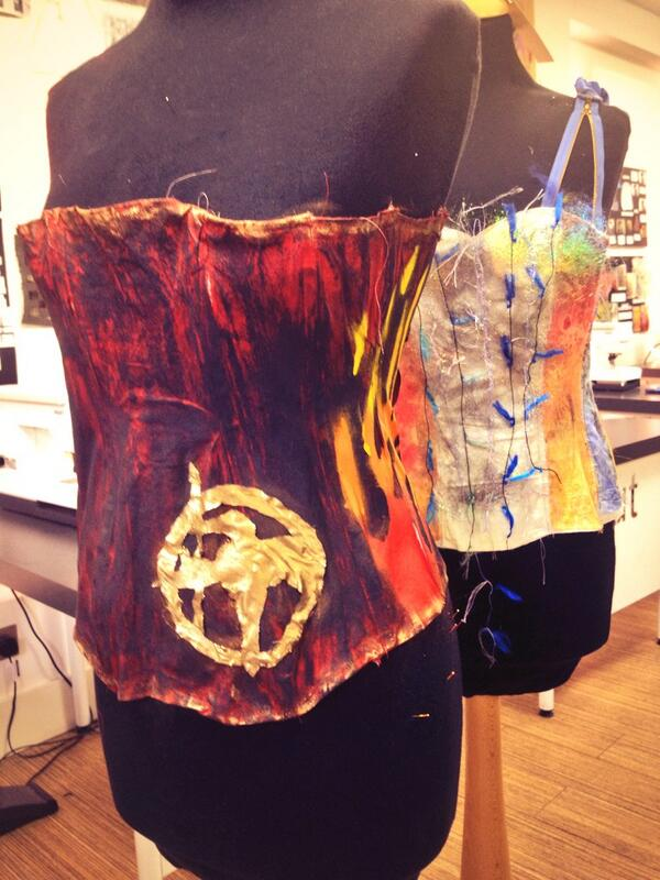 #hungergames corsets shaping up ready for year 9 creative arts showcase! http://t.co/1N2Fv9umvX