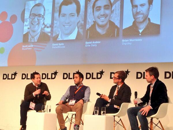"""Media needs to be more than data driven, it needs to have a heart"" @David_Spitz of  @RebelMouse #DLD14 http://t.co/EtrPE3aPJB"