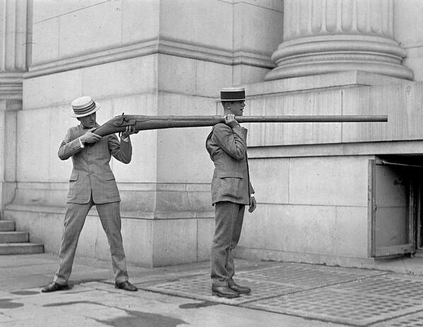 A Punt Gun. Used for duck hunting only 120 years ago, but were banned because they depleted stocks of wild fowl. http://t.co/T5qY5IRqJw
