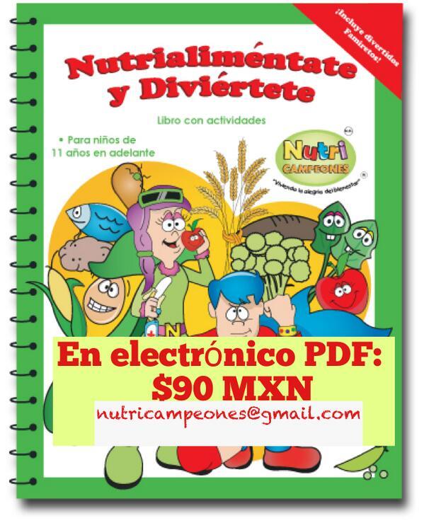 Libro Nutrialimentate y diviértete en electrónico. Los niños aprenden sobre #habitos y salud y se divierten :D http://t.co/iTzWi2PDMo