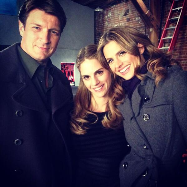 Having the best time working w the amazing @NathanFillion and the stunning @Stana_Katic #castle http://t.co/iXyK7wvsfp