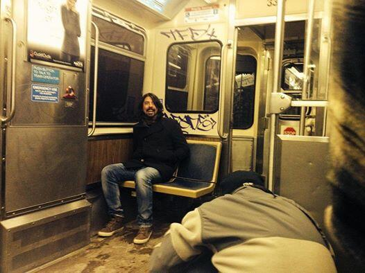ICYMI MT @jimhanke: Friend's brother sent him this via text a few minutes ago. Grohl's in Chicago, on the Brown Line. http://t.co/i1Xa4apXIE