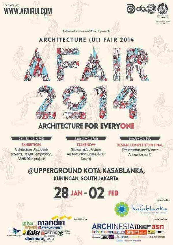 Nggak harus mahasiswa arsitek yang dateng kesini, because architecture is for everyone! http://t.co/QN1lIG3Rd7