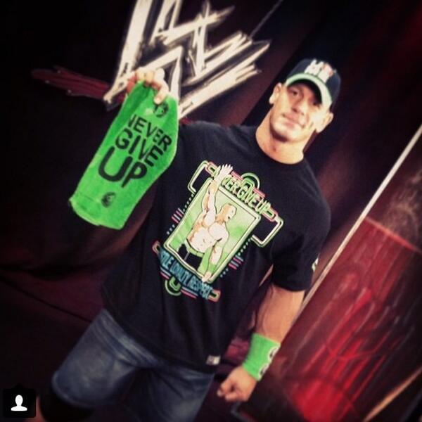 John Cena's new neon shirt! #wwe #raw @JohnCena http://t.co/X0kiydew2X