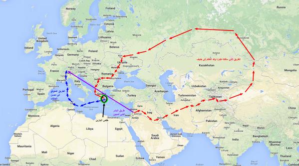 الطريق الذي سلكته طيارة الشبيحة إلى جنيف! #سوريا #Syria #retweet http://t.co/omLArIv57y