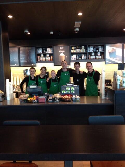 Meet your new @StarbucksIE Mahon Point Cork Team!  #nowopen #atyourservice http://t.co/2l1Z6LLfZU
