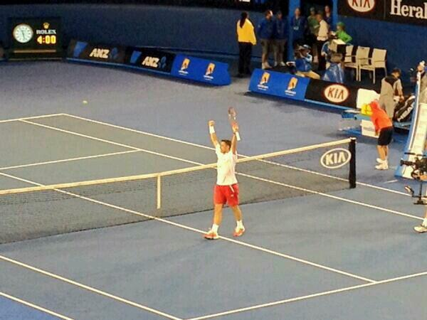 Congratulations @stanwawrinka on beating #Djokovic in an incredible Match. Well deserved! #stanimal #ausopen http://t.co/tInMdwnyC7