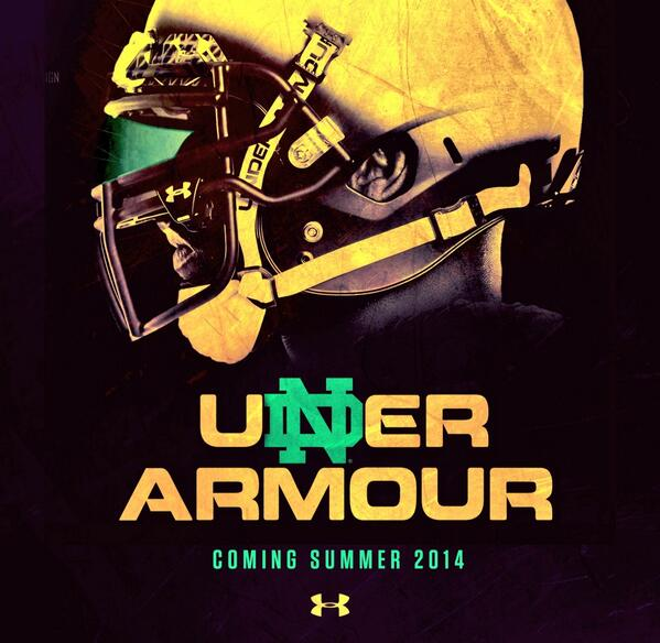 Let the partnership begin...@UnderArmour #WeAreND http://t.co/bDgslJdQIS