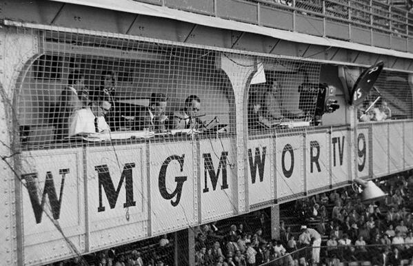 Vin Scully and the gang at Ebbets Field almost 60 years ago. #Dodgers http://t.co/KLybQKbKqF