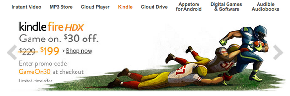 If anyone had doubts that @Amazon is a Seattle company; check out the homepage ad. http://t.co/klwQWE2YHA #gohawks http://t.co/7wRnza9WMw