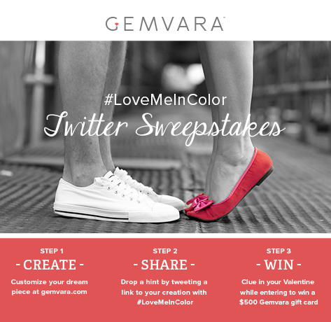 Tweet us a link to the piece you love with #LoveMeInColor for a chance to win $500 to Gemvara http://t.co/7NxWbDiqDx http://t.co/rVowKkdCZ5