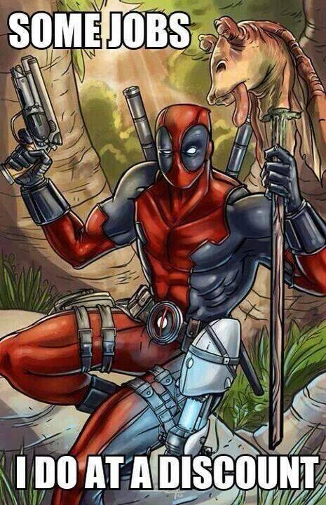 Thanks Deadpool ! #starwars http://t.co/H23e1uLqQt
