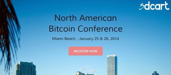 Meet #3dcart & @BitPay at the North American #Bitcoin Conference on Miami Beach -- http://t.co/bwFd9aZM0Z http://t.co/NIZB8WAbHU