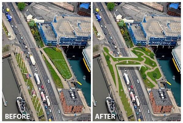 Check out @hesir's alternative idea for a bridge to get us over the A63 Castle Street - a wildlife bridge http://t.co/gWd6EVCaI9 #hullhour