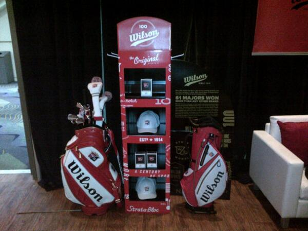 The new @WilsonGolf 100 year limited edition items are getting amazing feedback here at the PGA show #wilson #100year http://t.co/EUV1k7gQmv