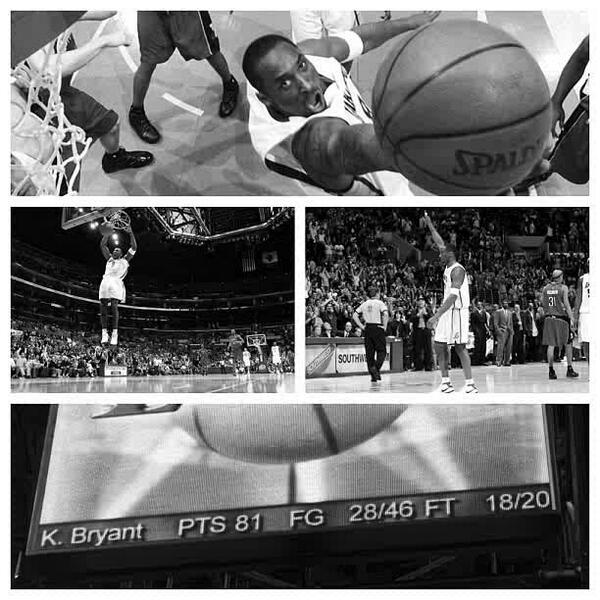 8 years ago today, Kobe scores 81 points against Toronto. @kobebryant http://t.co/xdwndvr9XI