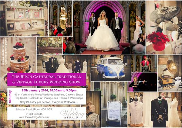 Can I tell you about an amazing event we're organising THIS SATURDAY @RiponCathedral. Do join us #weddinghour! http://t.co/gG4d7yYzMc