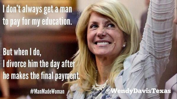 'I don't always get a man to pay for my education but when I do I divorce him the day after.' - Abortion Barbie http://t.co/XRgbVmAdj5 #tcot