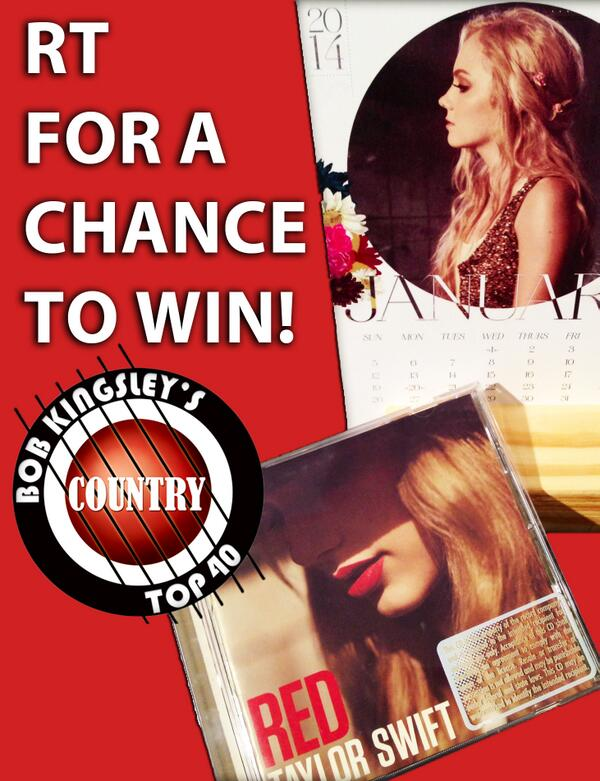 .@DBradbery calendar & @taylorswift13 CD up for grabs! RT for a chance to win! #CT40contest http://t.co/PbtzVuXxY3