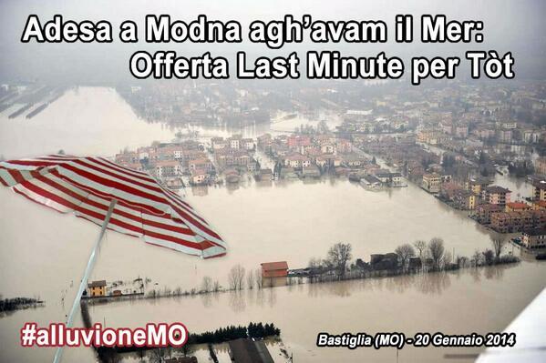 Modena ha bisogno di noi, facciamoci sentire! Questa immagine è per voi: smarmellatela ovunque! #alluvioneMO http://t.co/ZHs5EvQBLT