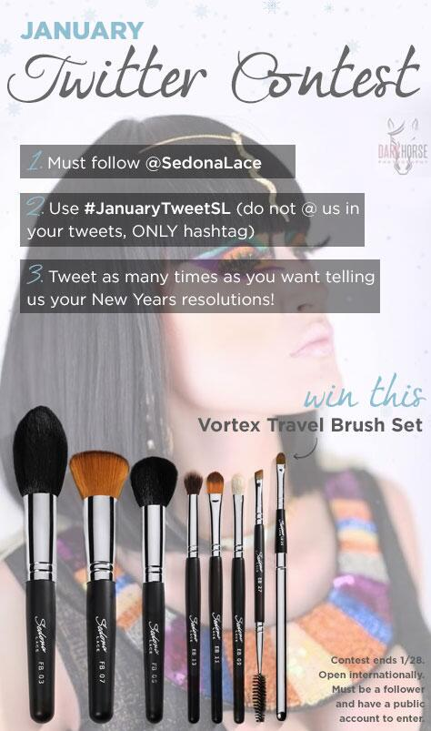 Here it is!! Our #JanuaryTweetSL contest!! Read the graphic rules and ENTER to win our Travel Vortex Brush Set! http://t.co/ewjmp6f0iP