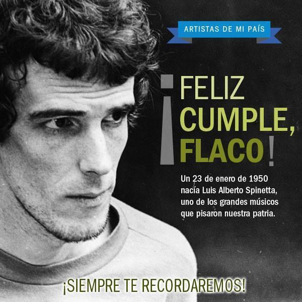 Hoy cumpliría 64 años Luis Alberto Spinetta. Nuestro homenaje en @Mega983 http://t.co/55izFD8SRB