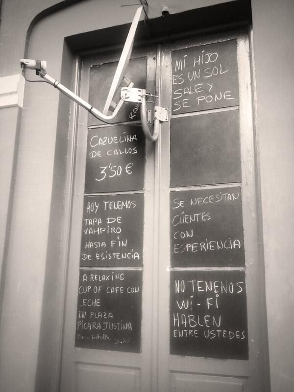 Imaginación y humor hostelero aplicado al marketing en #leonesp http://t.co/YjatKdLZnr