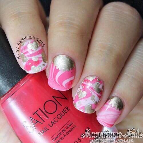Valentine's day nails 💕 http://t.co/5SDEiZN22V