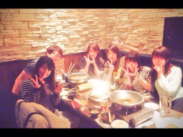げんしけん二代目のメンバーでごはんごはーん!(*´ω`*)久しぶりに会えてすっごく楽しかった…!和臣さんハッピーバースデ